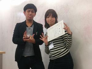 準優勝チーム、「言葉の力」再生プロジェクトのお二人。