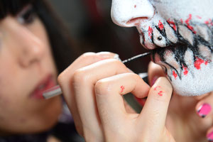 body paint madrid, bodypaint madrid, bodypaint eventos, curso bodypaint, maquillaje corporal, psycho clown, payaso malvado