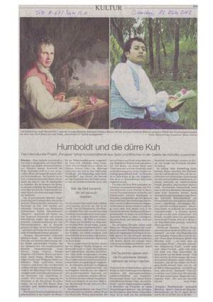 Süddeutsche Zeitung/ 13.03.2012 Antje Weber:             »Humboldt und die dürre Kuh« / »Humboldt y la vaca flaca«