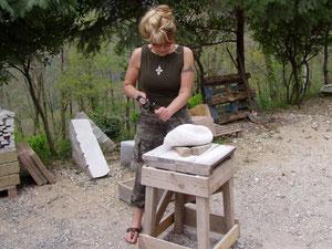 Bildhauerkurs bei Peter Rosenzweig in Azzano/Toscana