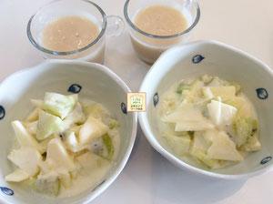 大阪兵庫で家事代行サービスの食事作りの朝食用意でヨーグルト