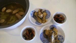 大阪兵庫で家事代行サービスの食事作りの朝食で椎茸のスープ煮