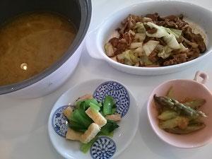 大阪兵庫で家事代行サービスの夕食作りでキャベツのみそ炒め