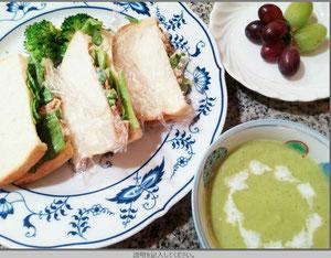 大阪兵庫で家事代行サービスで食事作りで昼食はサンドイッチ