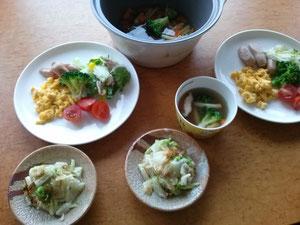 大阪兵庫で家事代行サービスの食事作りの朝食でスクランブルエッグ