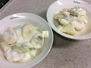 大阪兵庫で家事代行サービスで食事作り家政婦朝食づくりでフルーツヨーグルト