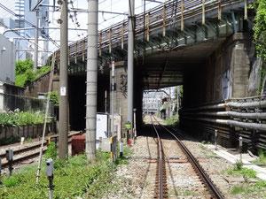 新宿駅方面を望む
