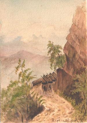 Персия, 1915 г. Акварельный рисунок Е.Кожевина
