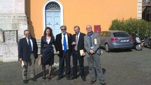 Junto a los compañeros ponentes de: la Universidad Complutense de Madrid, Ministerio de Cultura y Museo Nacional de Valladolid