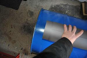 Heat Riser Abstand zum Deckel grob angehalten