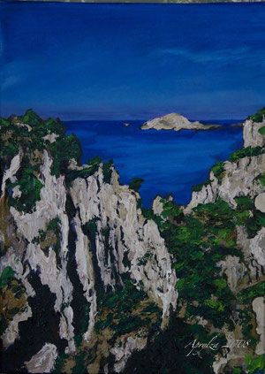 sur les Calanques à Cassis, 33/24cm oil on canvas