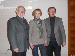Vorstand Förderkreis Arche Memmingen - Walter Lindner, Ulrike Gäble-Titze, Manfred Gossner