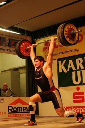 Georgi Panchev beim Stoßen (160 kg)