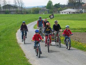 Familienausflug auf dem Rad