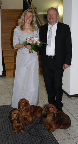 Kurz nach der Trauung im Rathaus Lüdinghausen