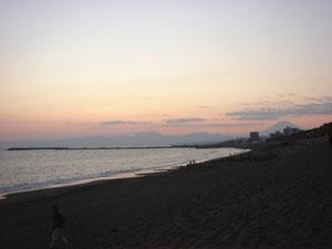 湘南海岸からの夕景