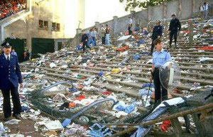 Stade Heysel après le carnage de 1985