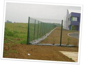 clôture panneauplis verts