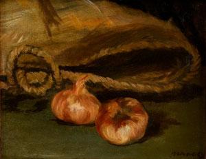 Edouard Manet Nature morte au cabas et à l'ail