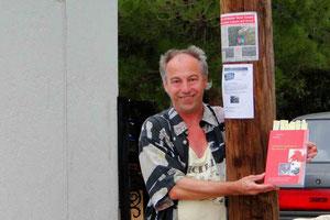 Die internationale Lesung auf Kreta wurde für den 25.09.09 im Olivengarten der Kretanos angekündigt