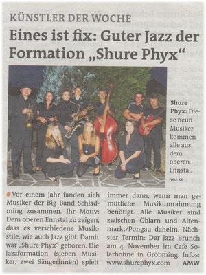 Artikel in der Zeitung die Woche vom 31.10.2012