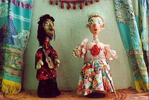 цыган и Аринушка куклы Е.Мининой