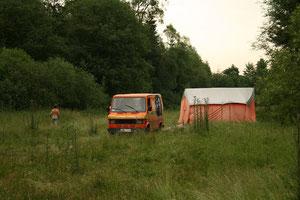 Pierwszy namiot rozlożony!!
