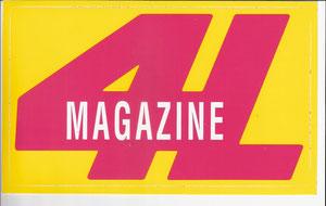 4L Magazine Aufkleber