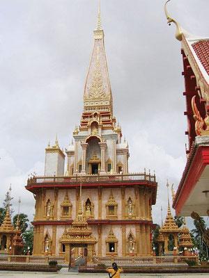 Pagoda in Wat Chalong, Phuket, Thailand.