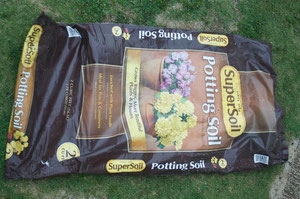 This is empty soil plastic bag, but it can be...