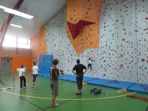 Novembre 2012, le mur d'escalade de Pontvallain...