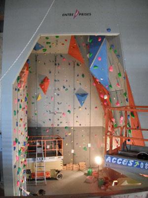 Avril 2013, elle est prête pour accueillir les premiers grimpeurs.