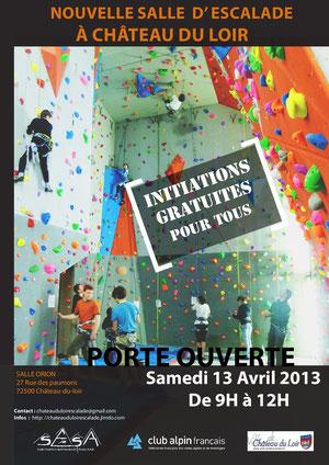 L'affiche de la journée portes-ouvertes de 2013.
