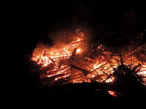 Das gut wärmende Feuer