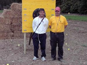 Jaegoor mit dem spanischen Meister Juano Caballero im Eiszeitpark Engen 2010.