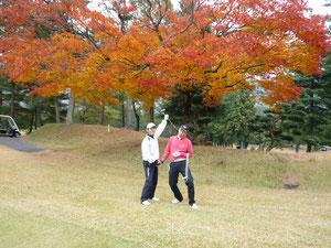 足利カントリークラブの秋の紅葉