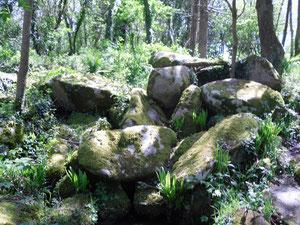 Quelques rochers du chaos qui traversent la vallée...