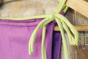 ひもはルグの他のゆるりパンツと同じ縫い目のない仕様で、すっきりと着ることができます。