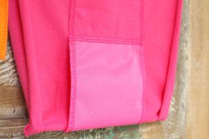 防水布付きタイプは、Wクロッチの部分に通気性のある防水布が付いています。