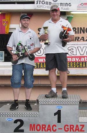 1. Platz Alfred Forstner A,  2. Platz  René Wolf  A