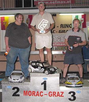 Sieger B Finale Pauls Michael, 2ter Franz Blessberger, 3ter Hermann Schilcher