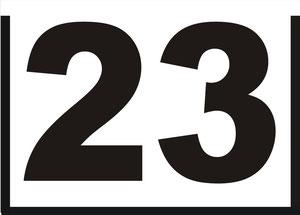 Einschub-Nrn. Format A 4 mit 160 mm große Zahlen