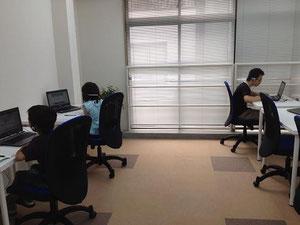 城東区蒲生の個別学習塾アチーブメント、教室風景、学習風景
