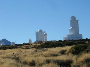 Teil-Ansicht des Observatoriums bei Izaña