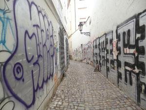 Graffitis in der Altstadt