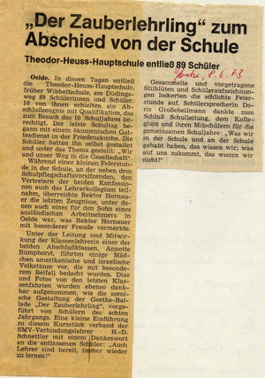 Artikel: Die Glocke vom 8.6.1973