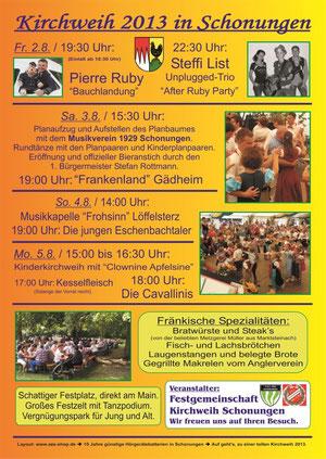 Schonunger Kirchweih 2013
