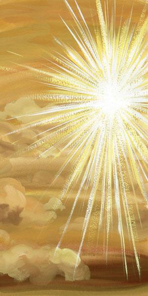 スケッチ:1「金色の雲の中に、まぶしすぎる白い光」