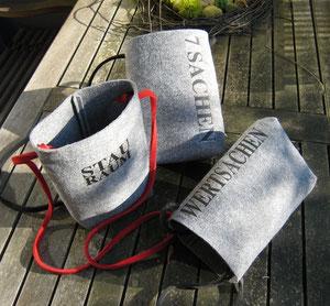 Filztaschen mit Aussage Kunsthandwerk Sabine Korn