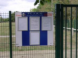 Panneau d'accueil du stade